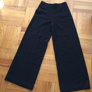 1.State wide leg pants in black